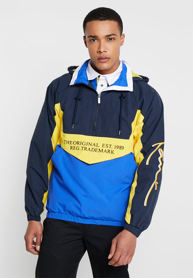 Karl Kani - BLOCK - Cortaviento - navy/yellow/blue/ultra white