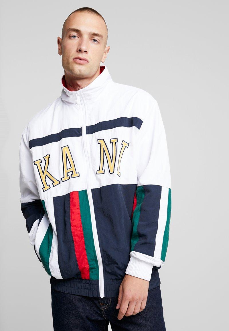 Karl Kani - COLLEGE BLOCK TRACKJACKET - Träningsjacka - white/navy/red/green