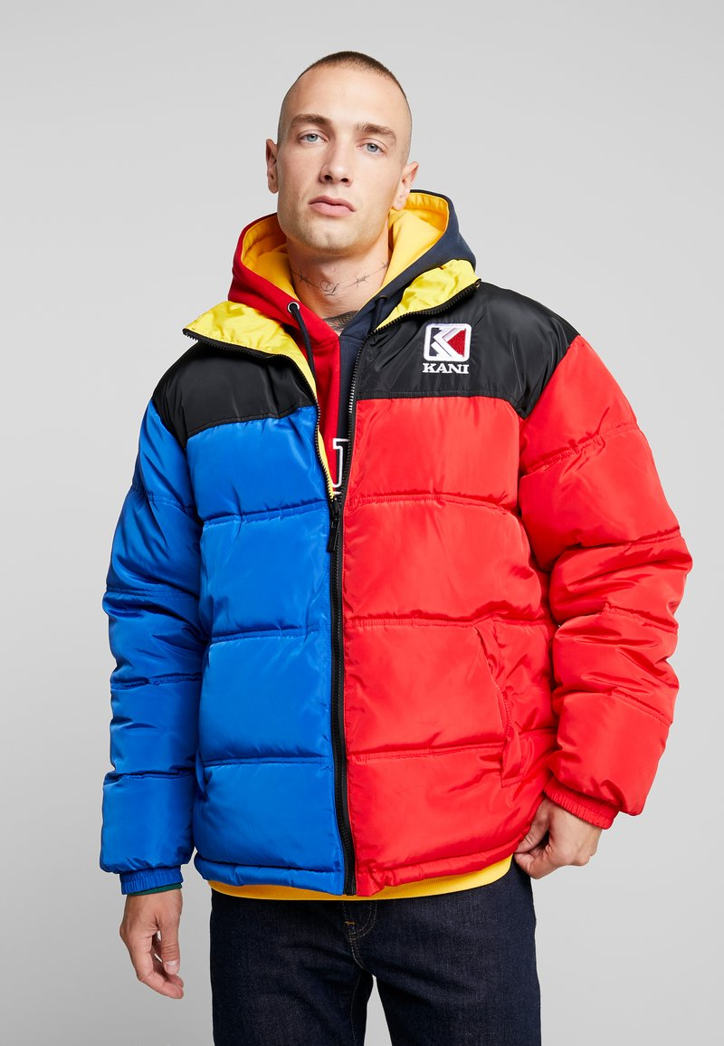 Karl Kani - RETRO REVERSIBLE PUFFER  - Vinterjacka - blue/red/yellow/black