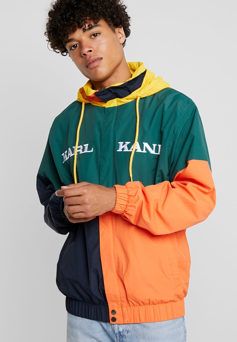 Karl Kani - RETRO BLOCK - Windbreaker - green/blue/orange/yellow