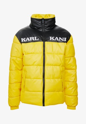 RETRO BLOCK PUFFER JACKET - Zimní bunda - yellow/black