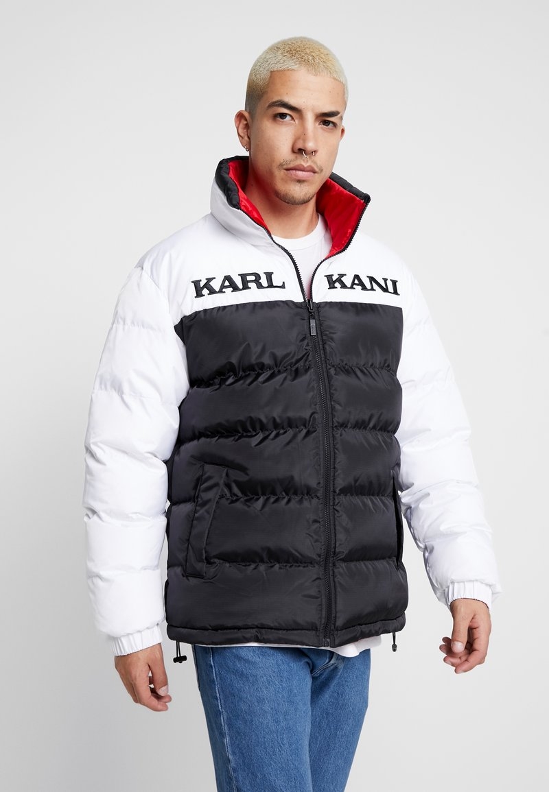 Karl Kani - RETRO REVERSIBLE PUFFER JACKET - Giacca invernale - black/white/red