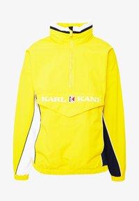 Karl Kani - RETRO BLOCK - Větrovka - yellow/white/navy - 4