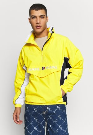 RETRO BLOCK - Veste coupe-vent - yellow/white/navy