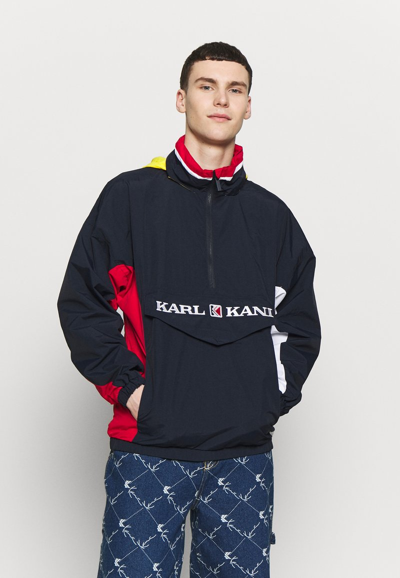 Karl Kani - RETRO BLOCK - Windbreaker - navy/red/white
