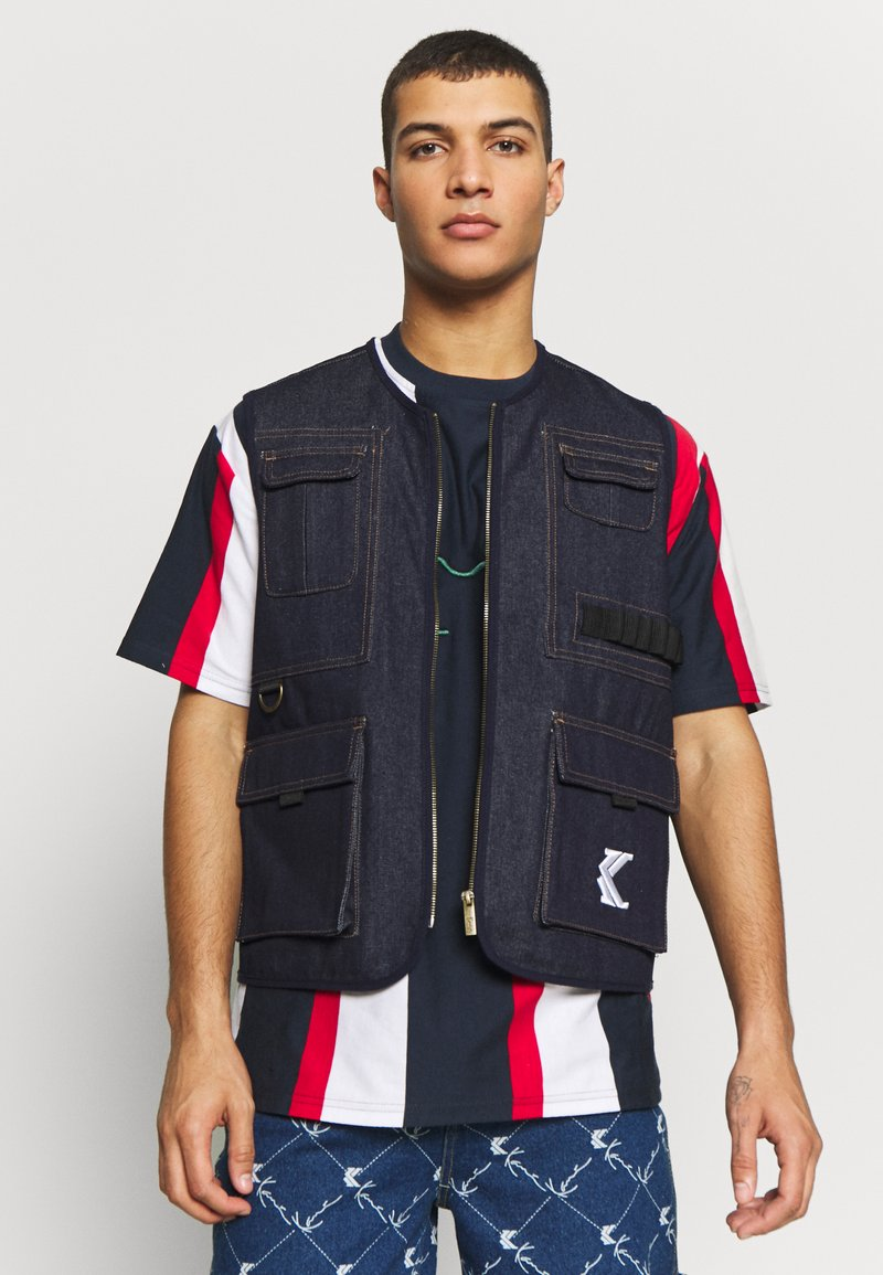 Karl Kani - DENIM UTILITY  - Bodywarmer - blue