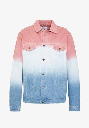 GRADIENT JACKET - Jeansjacka - blue/pink/white