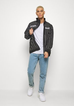 RETRO PINSTRIPE TRACK JACKET - Summer jacket - black