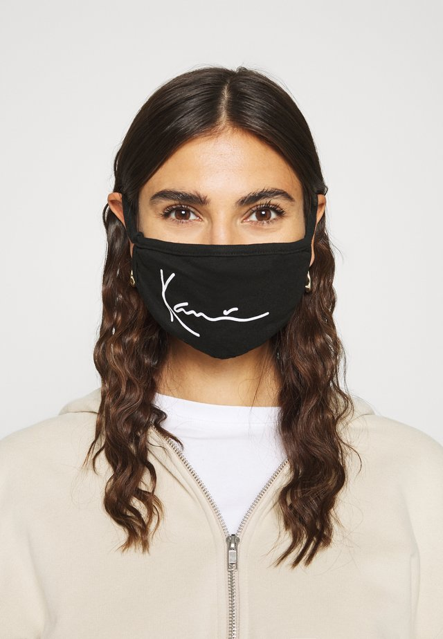 SIGNATURE FACE MASK - Stoffmaske - black