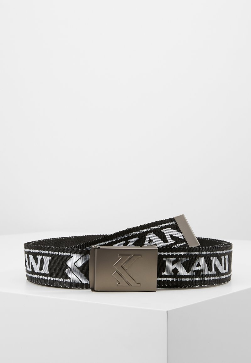 Karl Kani - COLLEGE BUCKLE BELT - Pásek - black/white