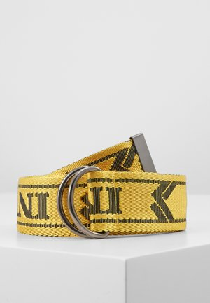 COLLEGE BELT - Gürtel - yellow/black