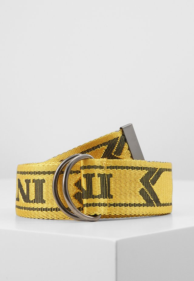 COLLEGE BELT - Belte - yellow/black