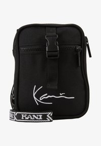 Karl Kani - SIGNATURE TAPE MESSENGER BAG - Across body bag - black/white - 1