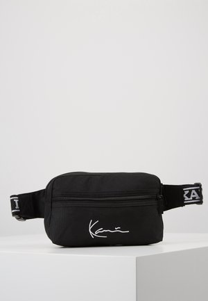 KK SIGNATURE TAPE HIP BAG - Bæltetasker - black/white