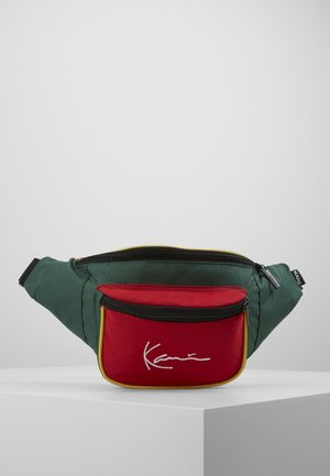 SIGNATURE BLOCK WAIST BAG - Ledvinka - red/green/yellow