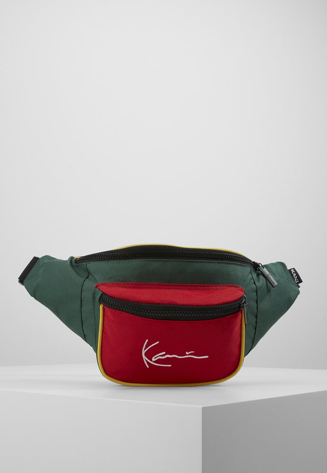 SIGNATURE BLOCK WAIST BAG - Gürteltasche - red/green/yellow