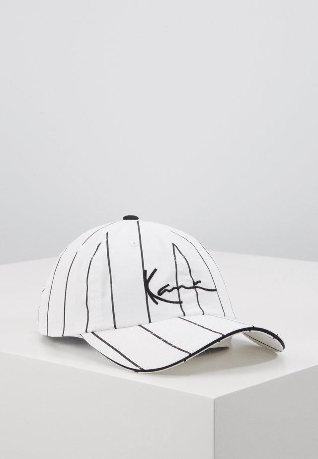 SIGNATURE PINSTRIPE  - Cap - white