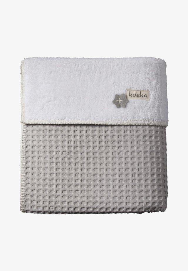OSLO - Baby blanket - silver grey-white