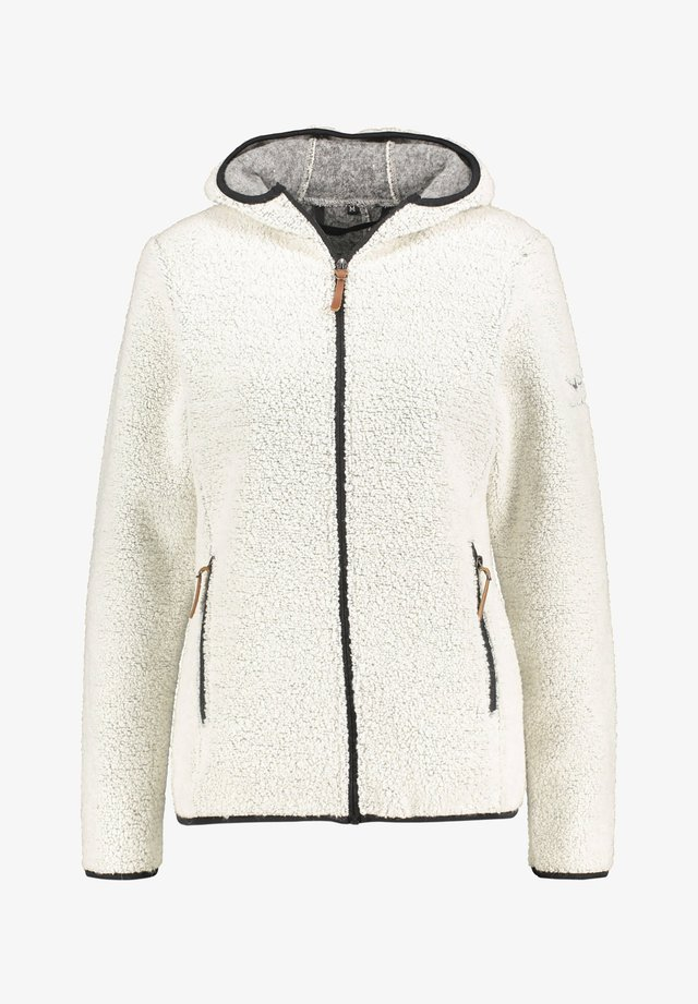 "MIT KAPUZE ""KOTKA"" - Fleece jacket - beige"