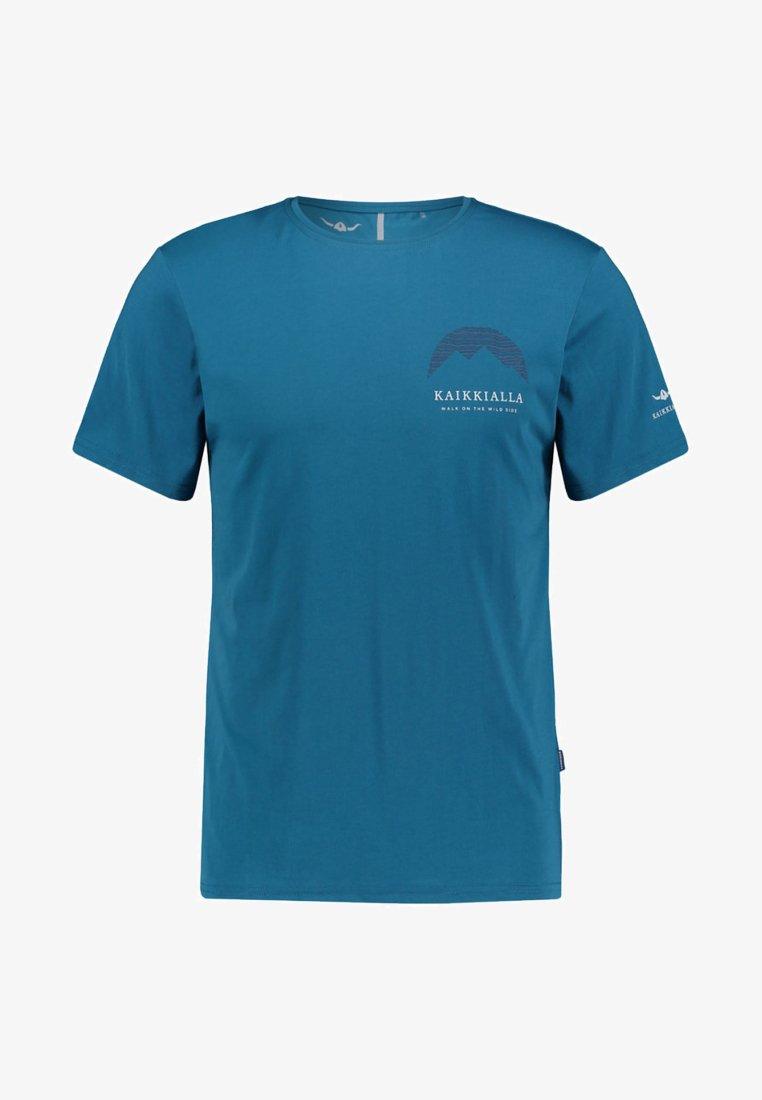 Kaikkialla - ERKKI - Print T-shirt - petrol