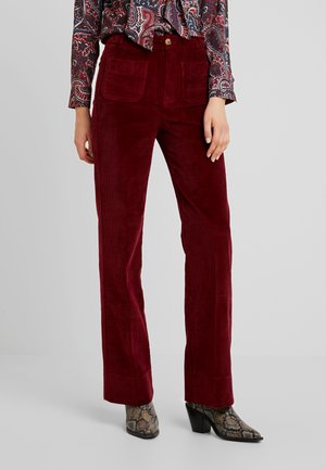 GARBO PANT COLONNE - Stoffhose - cherise red