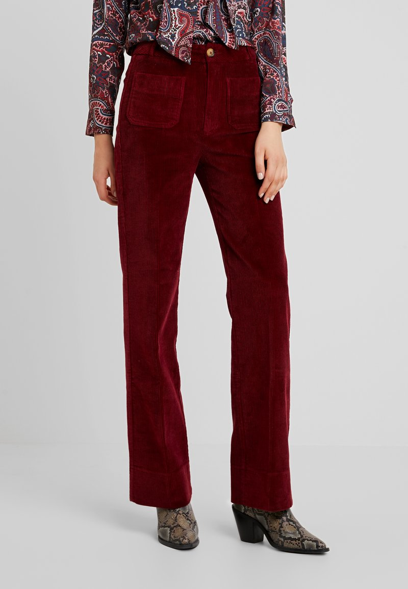 King Louie - GARBO PANT COLONNE - Stoffhose - cherise red