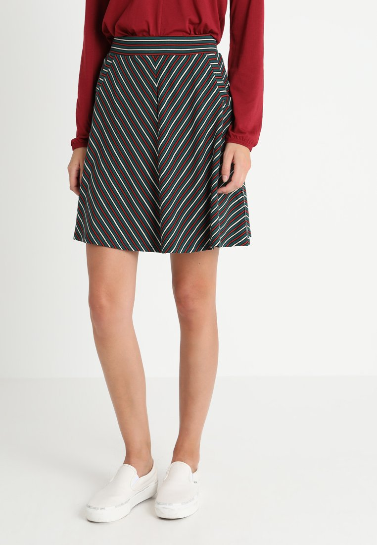 King Louie - SOFIA SKIRT BLACKJACK STRIPE - A-linjainen hame - dragonfly green
