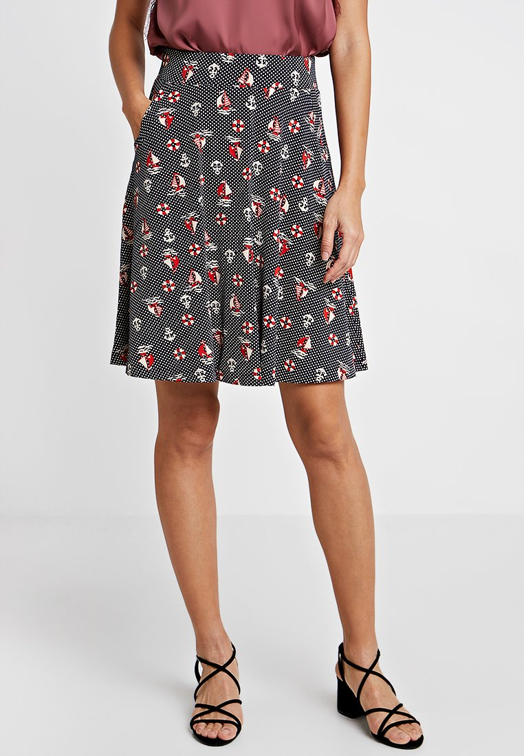 King Louie - SOFIA SKIRT SPLASH - Jupe trapèze - blue