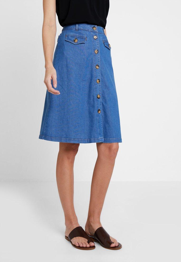 King Louie - CAROLL SKIRT  - A-snit nederdel/ A-formede nederdele - river blue