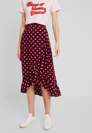 RUFFLE SKIRT - Gonna a portafoglio - windsor red