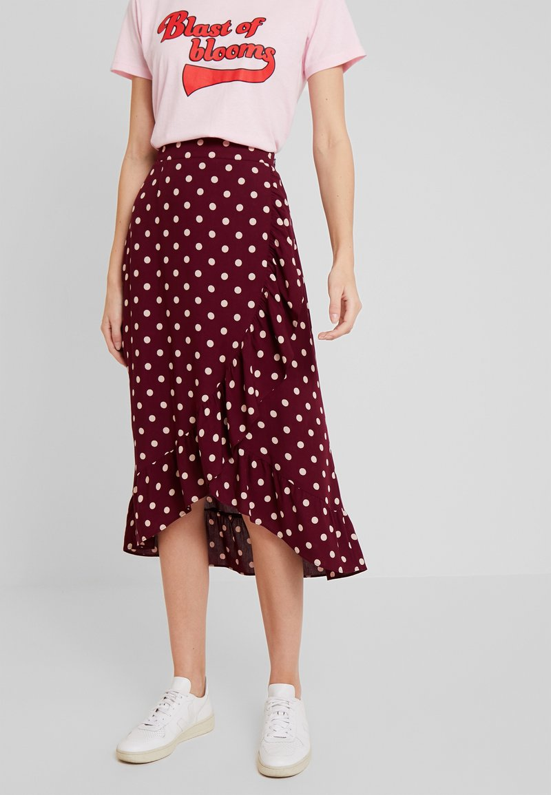 King Louie - RUFFLE SKIRT - Wrap skirt - windsor red