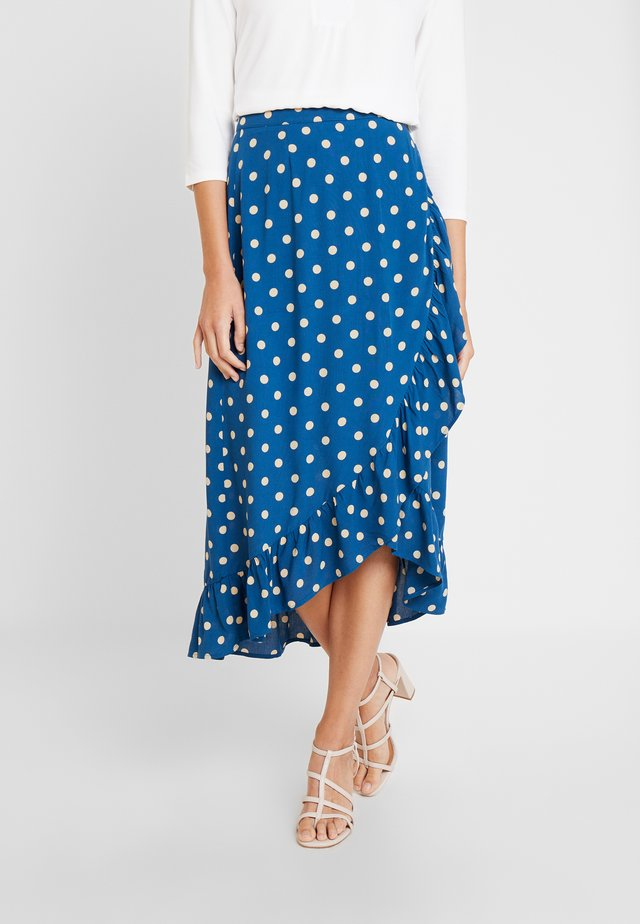 RUFFLE SKIRT - Wrap skirt - autumn blue