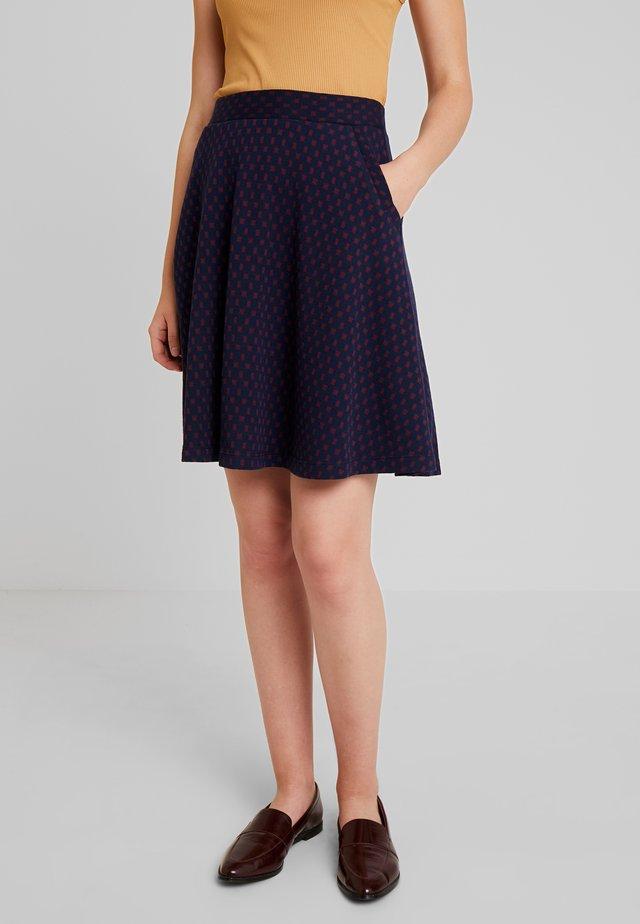 SOFIA SKIRT MIDI PERONI - A-line skirt - blue