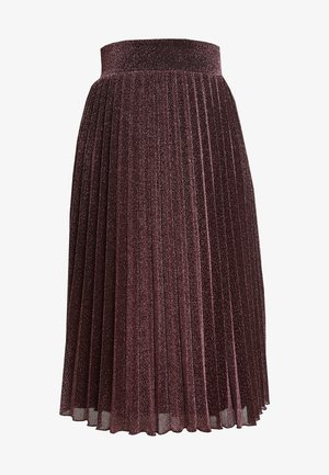 BORDER PLISSE SKIRT PLISOLEY - A-line skirt - lilac red