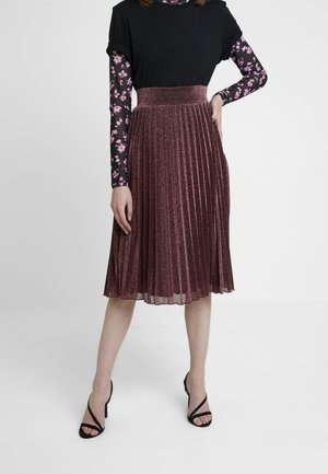 BORDER PLISSE SKIRT PLISOLEY - A-line skirt - lilac red