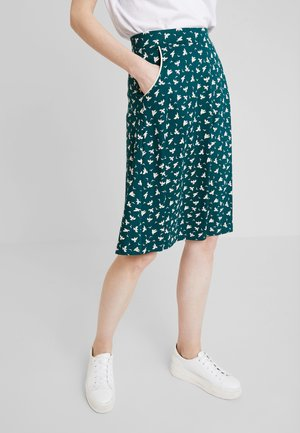 SOFIA MIDI SKIRT BIRDIE - A-snit nederdel/ A-formede nederdele - pine green