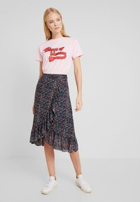 King Louie - WRAP RUFFLE SKIRT DALLAS - A-snit nederdel/ A-formede nederdele - black - 2