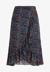 King Louie - WRAP RUFFLE SKIRT DALLAS - A-snit nederdel/ A-formede nederdele - black - 4