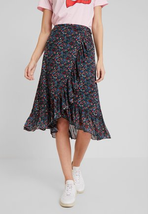 WRAP RUFFLE SKIRT DALLAS - Áčková sukně - black