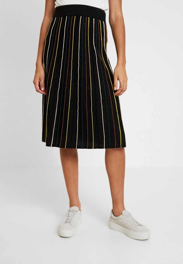 STRIPE SKIRT GLITTER STRIPE - A-lijn rok - black