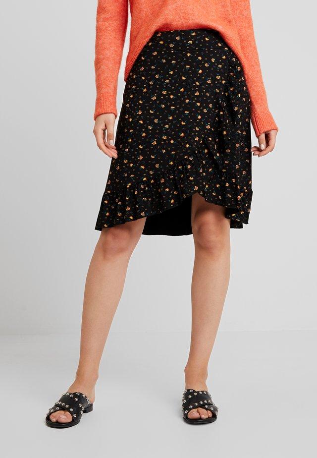 RUFFLE SKIRT HONKY TONK - A-snit nederdel/ A-formede nederdele - black