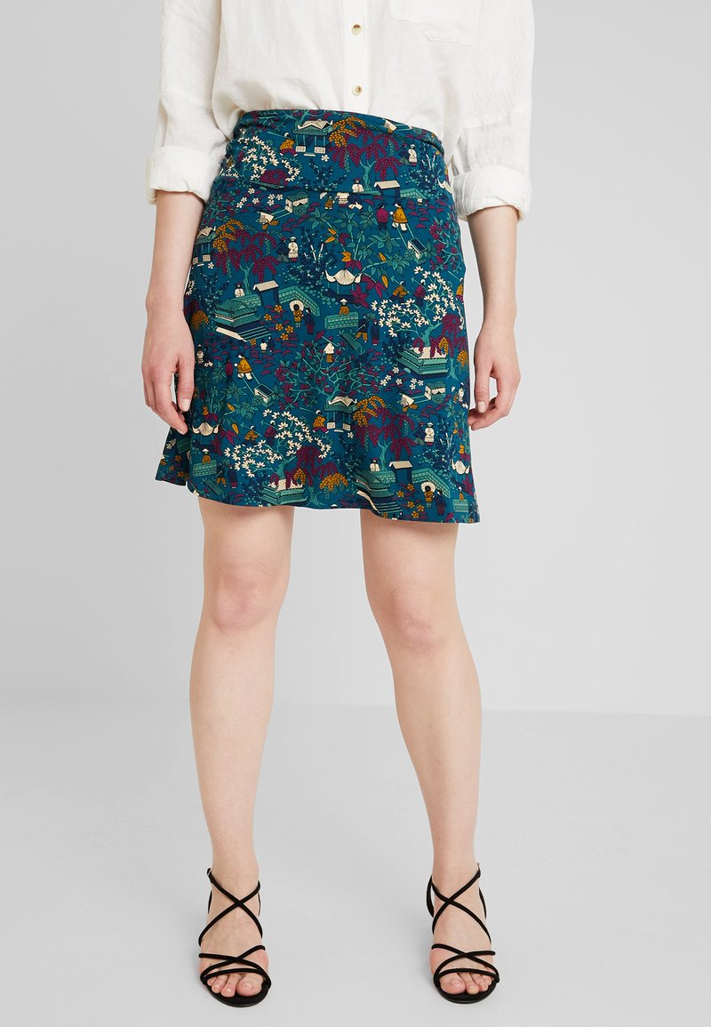 King Louie - BORDER SKIRT MANZAI - A-snit nederdel/ A-formede nederdele - autumn blue