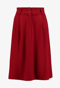 King Louie - AVA SKIRT MILANO CREPE - A-snit nederdel/ A-formede nederdele - true red - 3