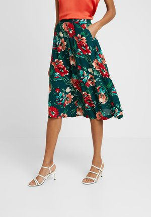CIRCLE MIDI SKIRT BLUEBELL - A-line skirt - dragon fly green