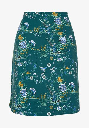 BORDER SKIRT GRIFFIN - Falda acampanada - dragonfly green