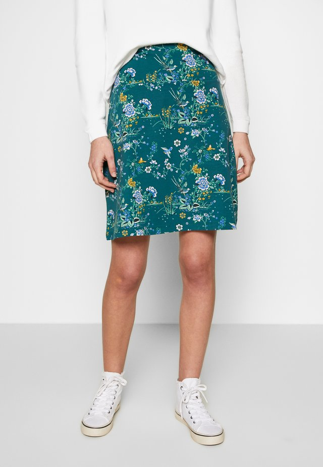 BORDER SKIRT GRIFFIN - Jupe trapèze - dragonfly green