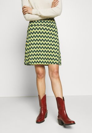 BORDER SKIRT NAMASTE - Minirok - spar green