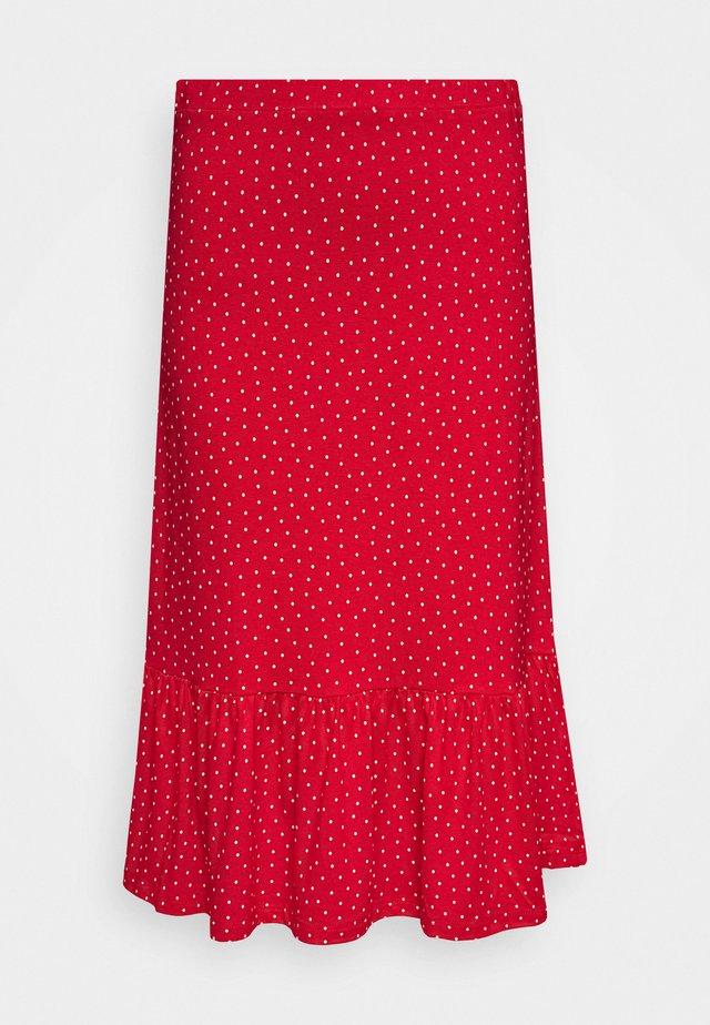 ESME SKIRT LITTLE DOTS - Blyantnederdel / pencil skirts - chili red