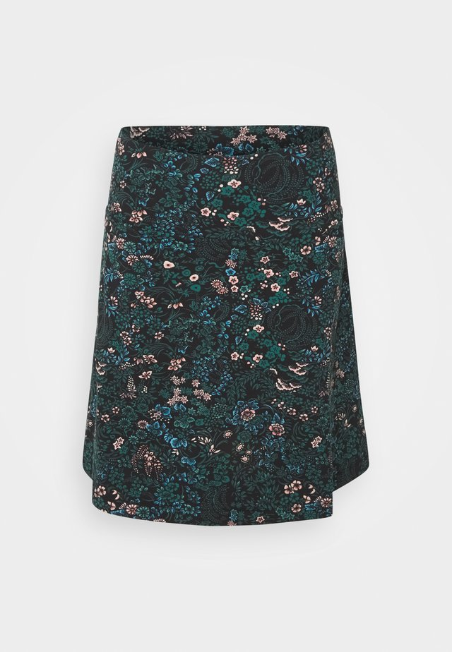 BORDER SKIRT MONTEREY - A-line skjørt - black