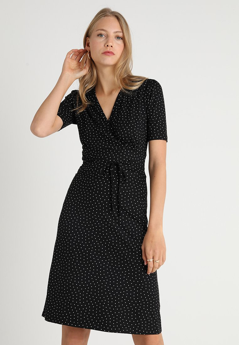 King Louie - CECIL DRESS LITTLE DOTS - Jersey dress - black